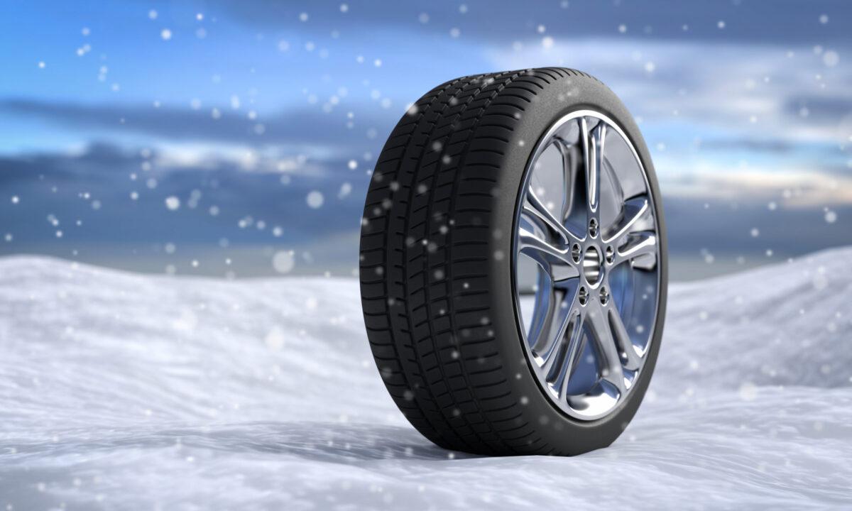 3D Illustration Winterreifen